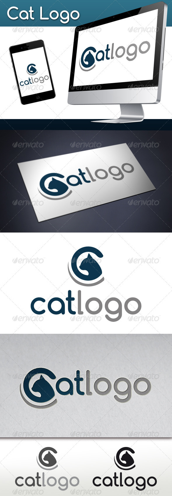 GraphicRiver Cat Logo 3445029