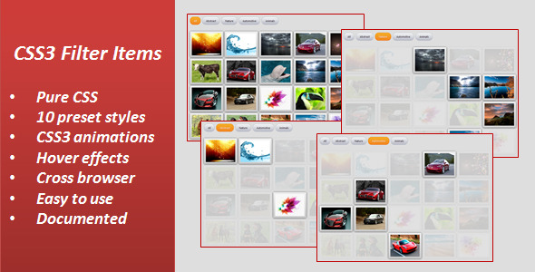 CodeCanyon CSS3 Filter Items 3405578