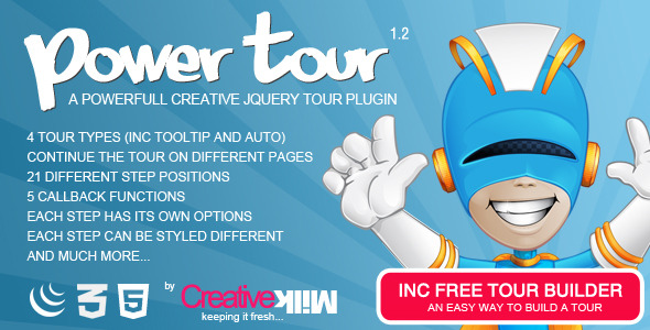 CodeCanyon Power Tour Powerfull creative jQuery tour plugin 3246071