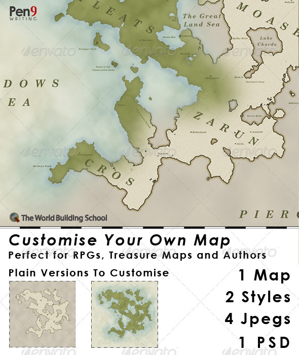 GraphicRiver Elfcarron Customise Your Own Map 3358109