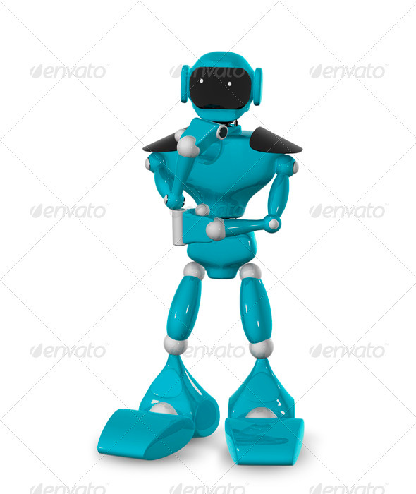 GraphicRiver Pensive Robot 3446960