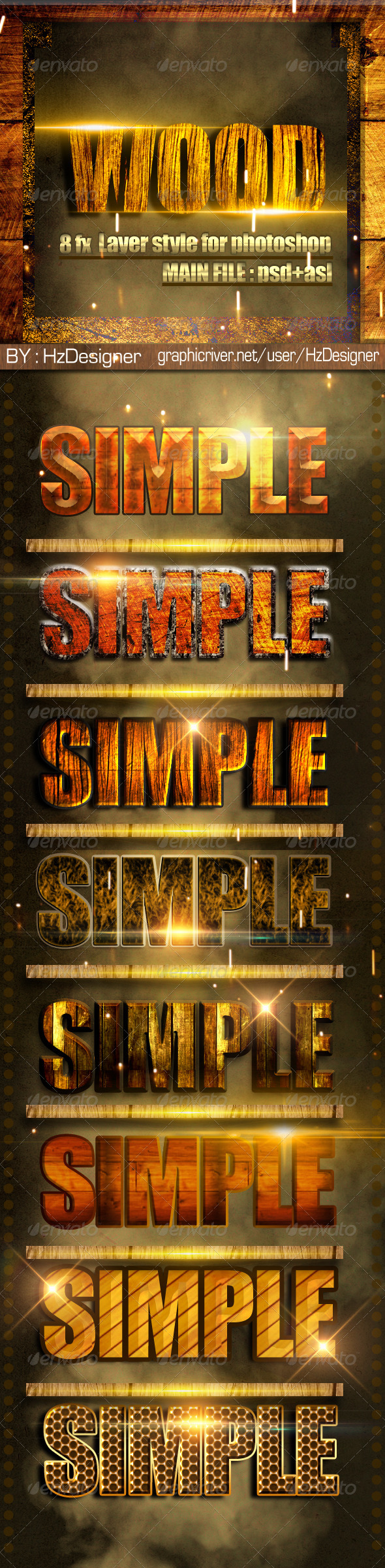 GraphicRiver Ps Wood Style 3447070