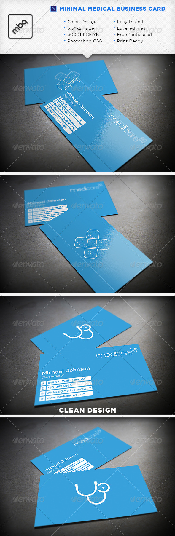 GraphicRiver Minimal Medical Business Card 3447405