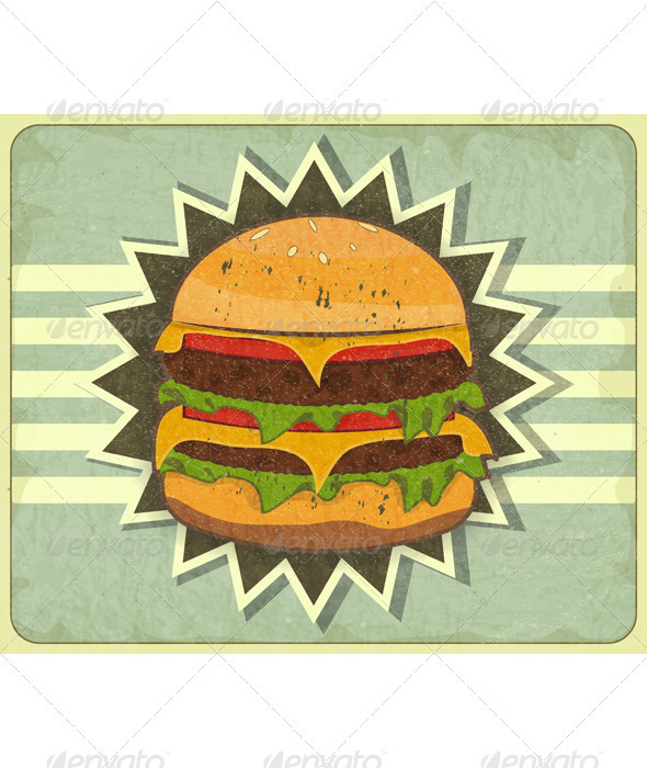 GraphicRiver Retro Cover for Fast Food Menu 3447806