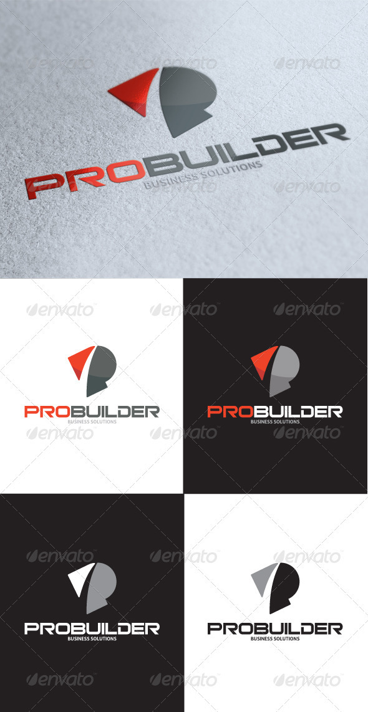 GraphicRiver Progress Solutions P Letter Logo 3414720