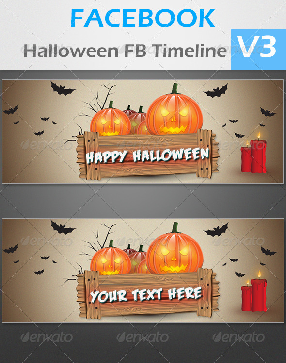 GraphicRiver Halloween FB Timeline V3 3448656