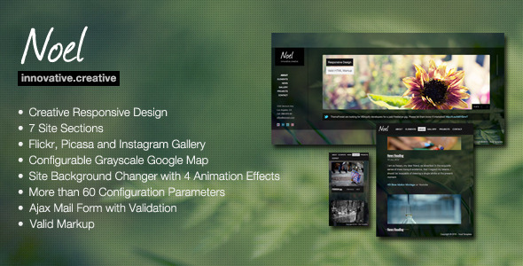 ThemeForest Noel Onepage AJAX Template 3098194
