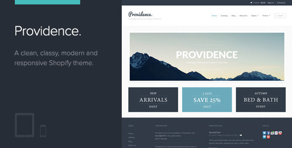 ThemeForest Providence Shopify Theme 2846835