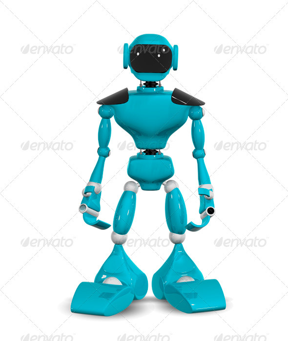GraphicRiver standing robot 3450537