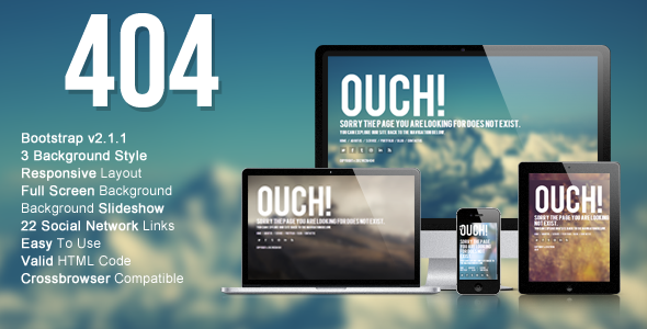 Wizm 404 - Responsive error template for you