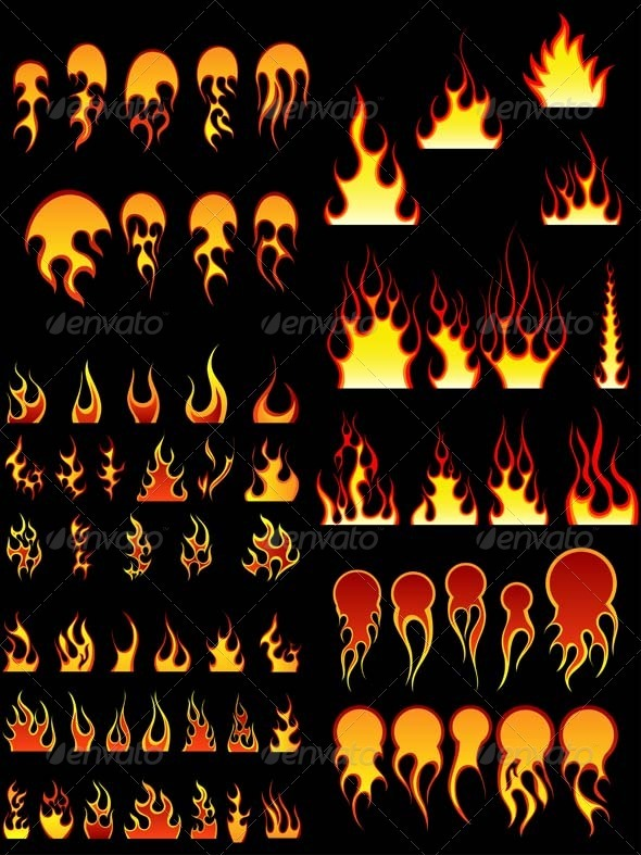 GraphicRiver Fire Icon Set 3451801