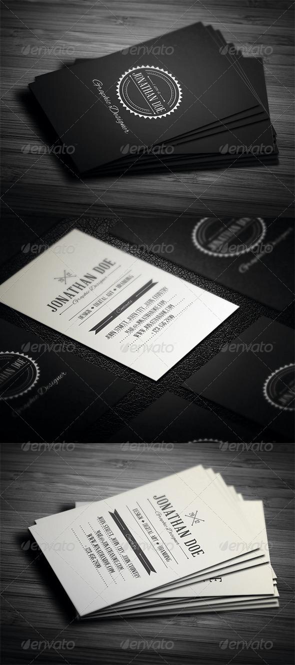 GraphicRiver Retro Business Card 3452675