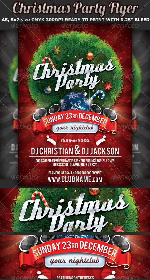 Christmas Party Flyer Celebration Template - Events Flyers