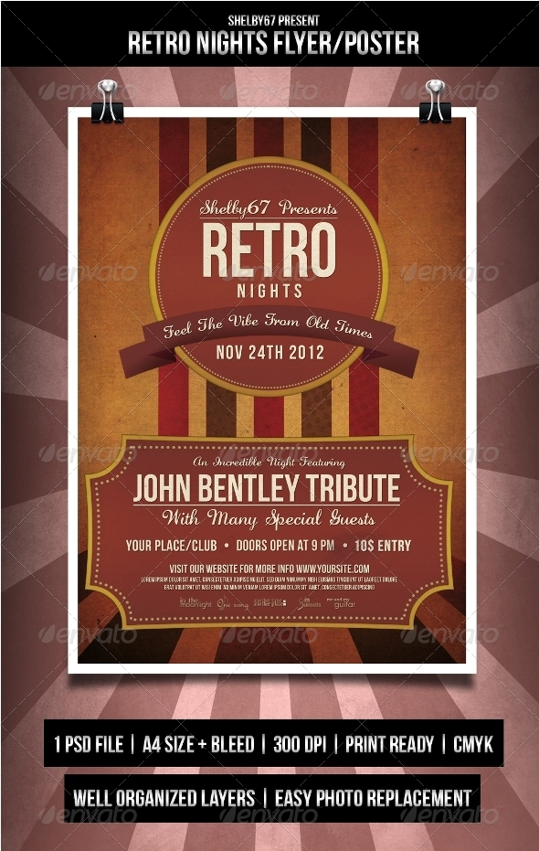 GraphicRiver Retro Nights Flyer Poster 3453416