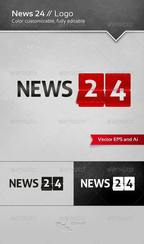 GraphicRiver News 24 Logo 3454388