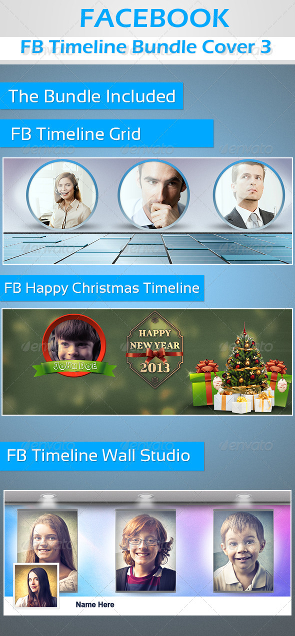 GraphicRiver FB Timeline Cover Bundle 3 3454445