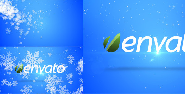 VideoHive Snowflakes Logo Opener 3454449
