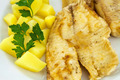 Fried fish with boiled potatoes - PhotoDune Item for Sale