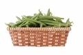 green beans in a straw basket, isolated on white - PhotoDune Item for Sale
