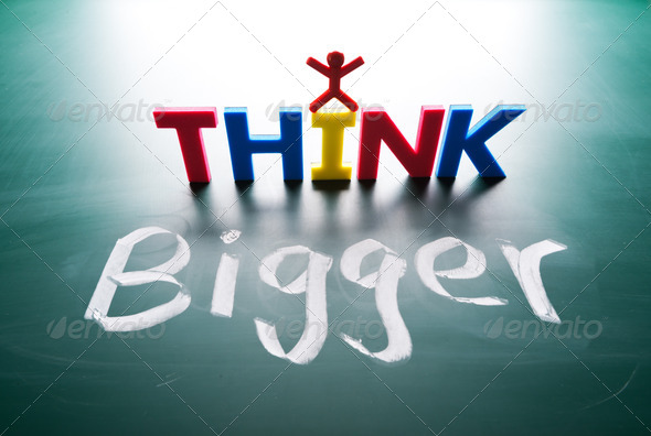 I think bigger concept - Stock Photo - Images