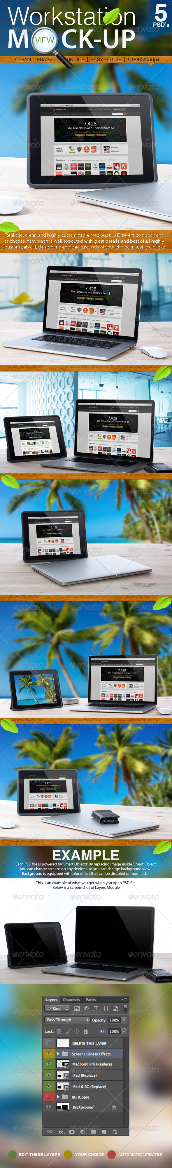 GraphicRiver Workstation View Mock-up 3455952