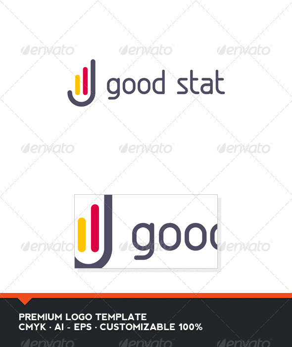 GraphicRiver Good Stat Logo Template 3456011