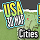 USA 3DMAP Puzzle Cities - GraphicRiver Item for Sale