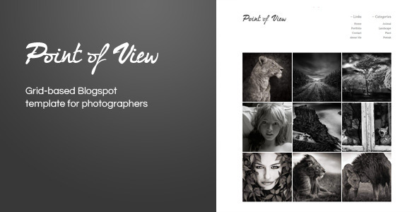 ThemeForest Point Of View Blogger Template 843096