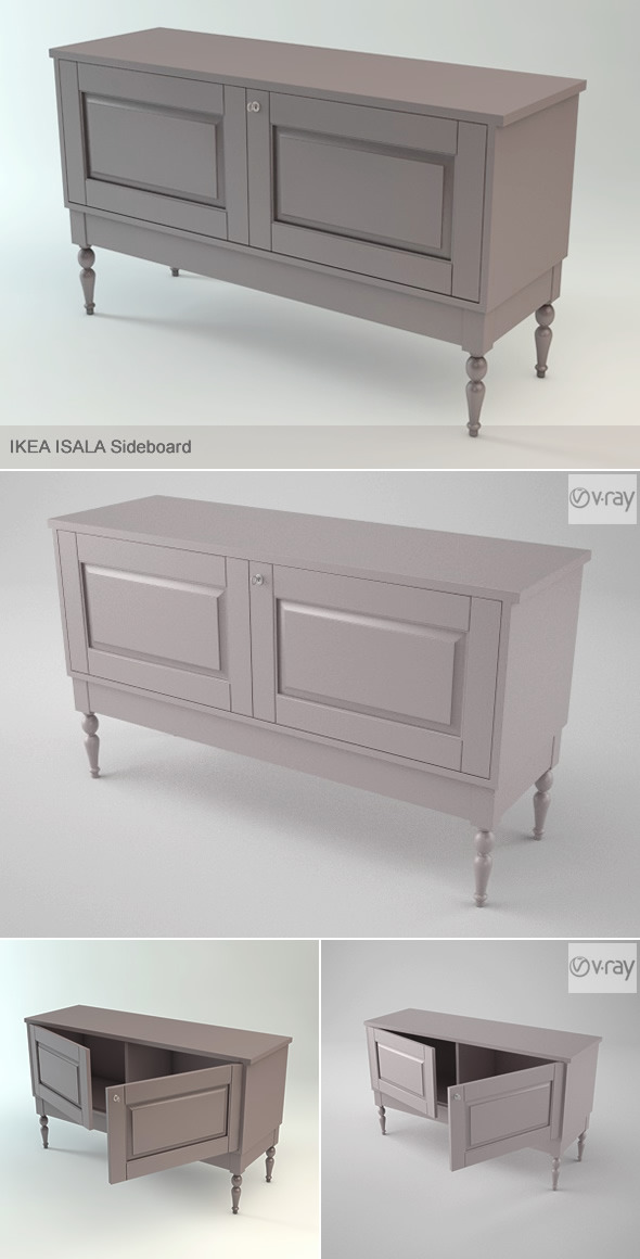 3DOcean Ikea Isala Sideboard & V-ray for Cinema 4D 3456834