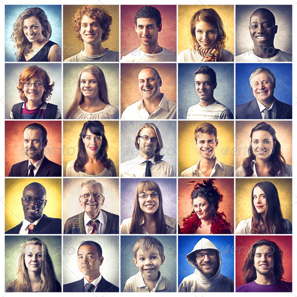 Smiling People - Stock Photo - Images