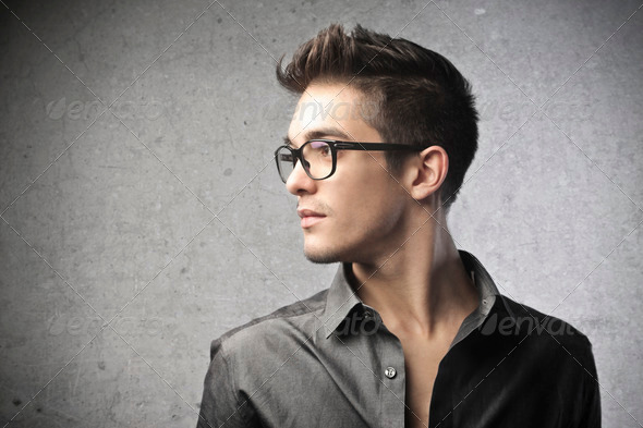 Young Man Profile  - Stock Photo - Images