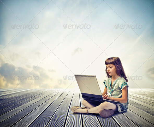 Child Laptop - Stock Photo - Images