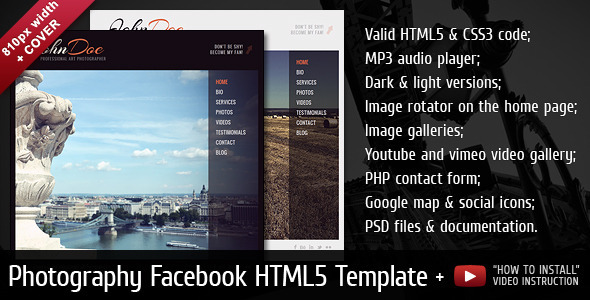 ThemeForest John Doe Facebook Template 3352799