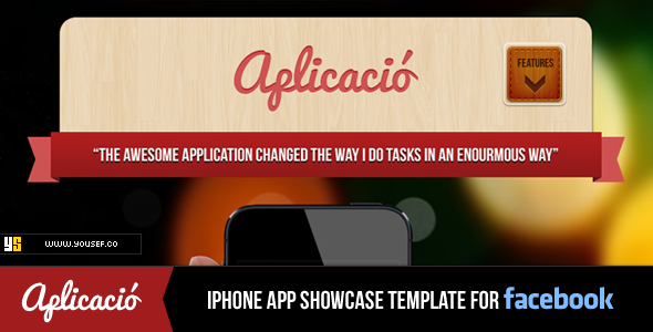 Aplicacio | iPhone App Showcase Facebook Template - Marketing Corporate