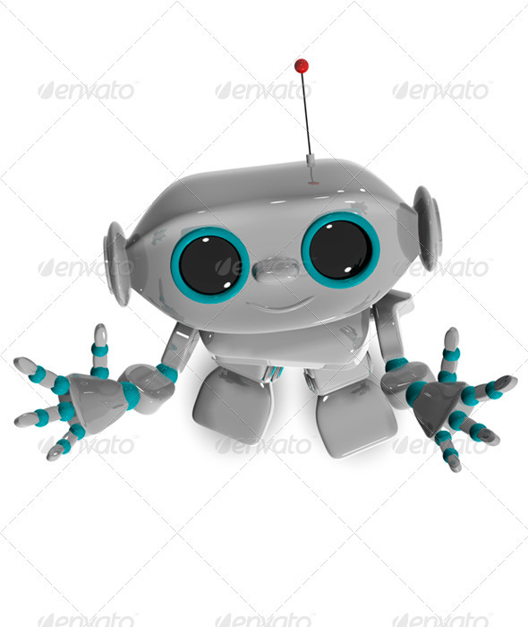 GraphicRiver Cheerful Robot Top 3458469
