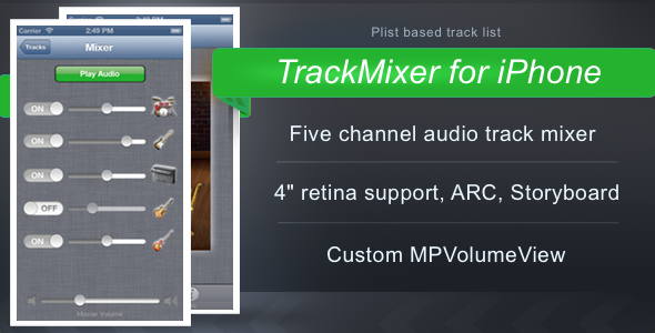 TrackMixer for iPhone - CodeCanyon Item for Sale