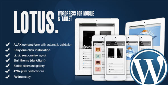 Lotus - Mobile and Tablet | WordPress & Retina