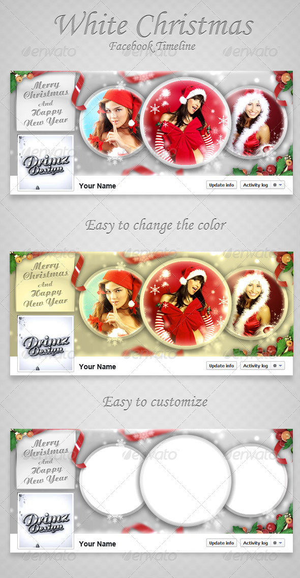 GraphicRiver Christmas Facebook Timeline V3 3458594