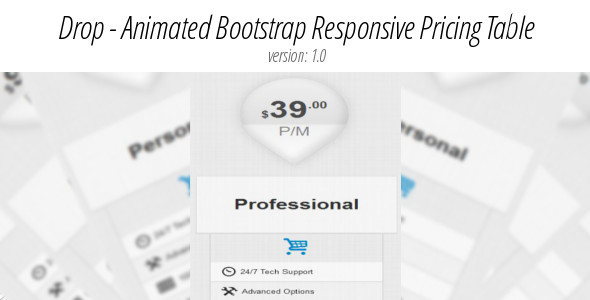 Bootstrap & Non-Bootstrap Animated Responsive Pricing Table - Pure Css - CodeCanyon Item for Sale