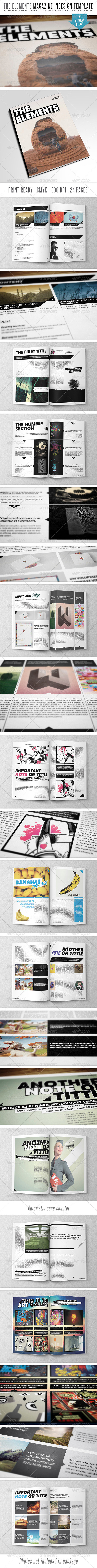 The Elements Indesign MGZ Template - Magazines Print Templates