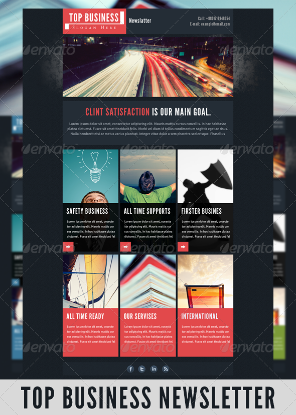 GraphicRiver Top Business Newsletter 3434557