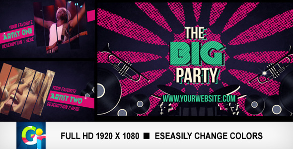 VideoHive The Big Party Promo 3459356
