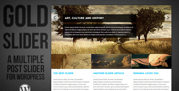 CodeCanyon WordPress Gold Slider 3459454