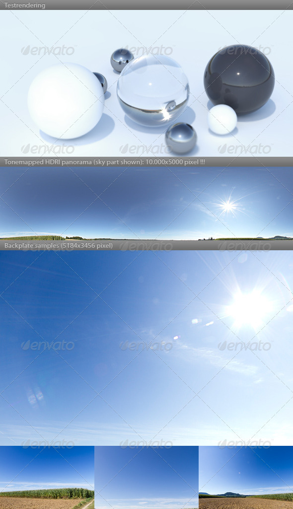 3DOcean HDRI spherical sky panorama 1028 sunny blue sky 2911878
