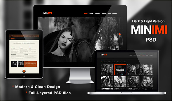 ThemeForest Minimi Likable single page design 3460432