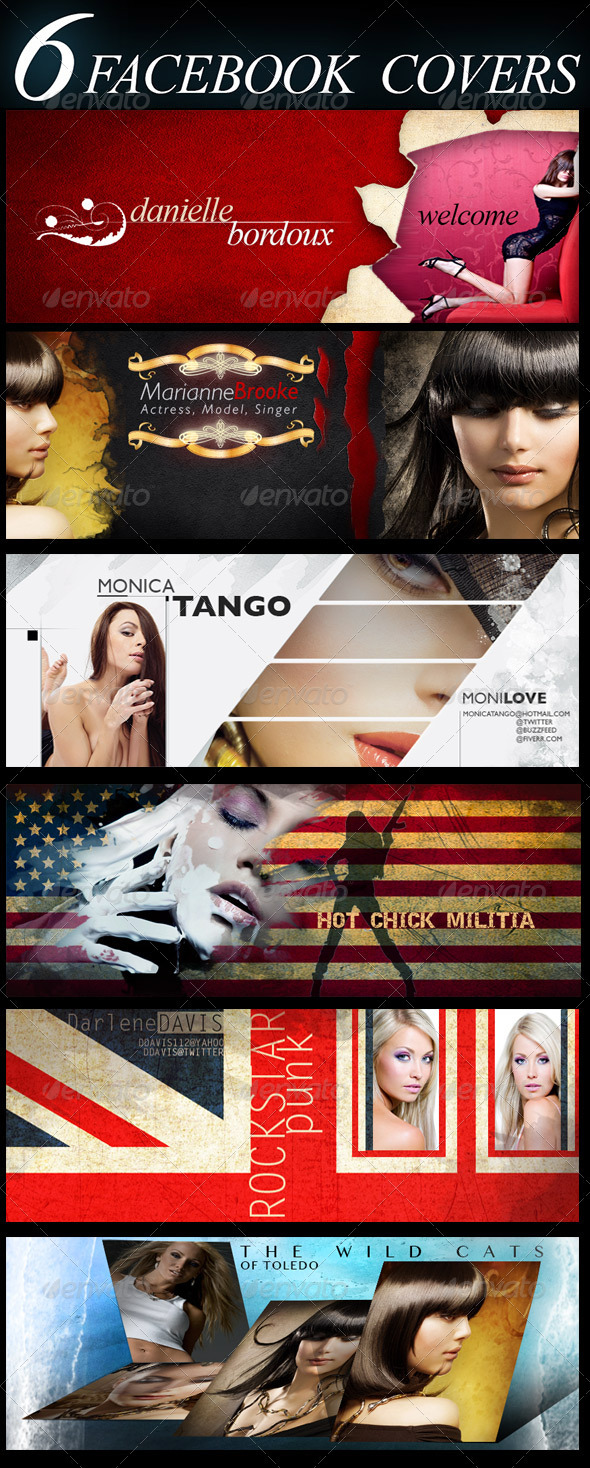 GraphicRiver 6 FB Covers 3435590
