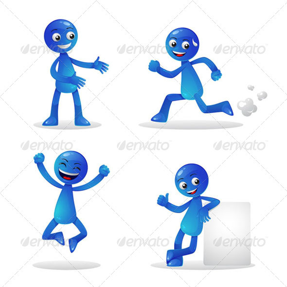 Blue Person Activity 1 - Characters Vectors