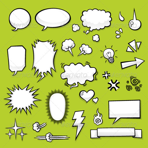 Comic Elements - Decorative Symbols Decorative