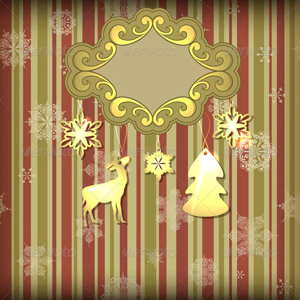 GraphicRiver Vector Christmas Greeting Card 3462186