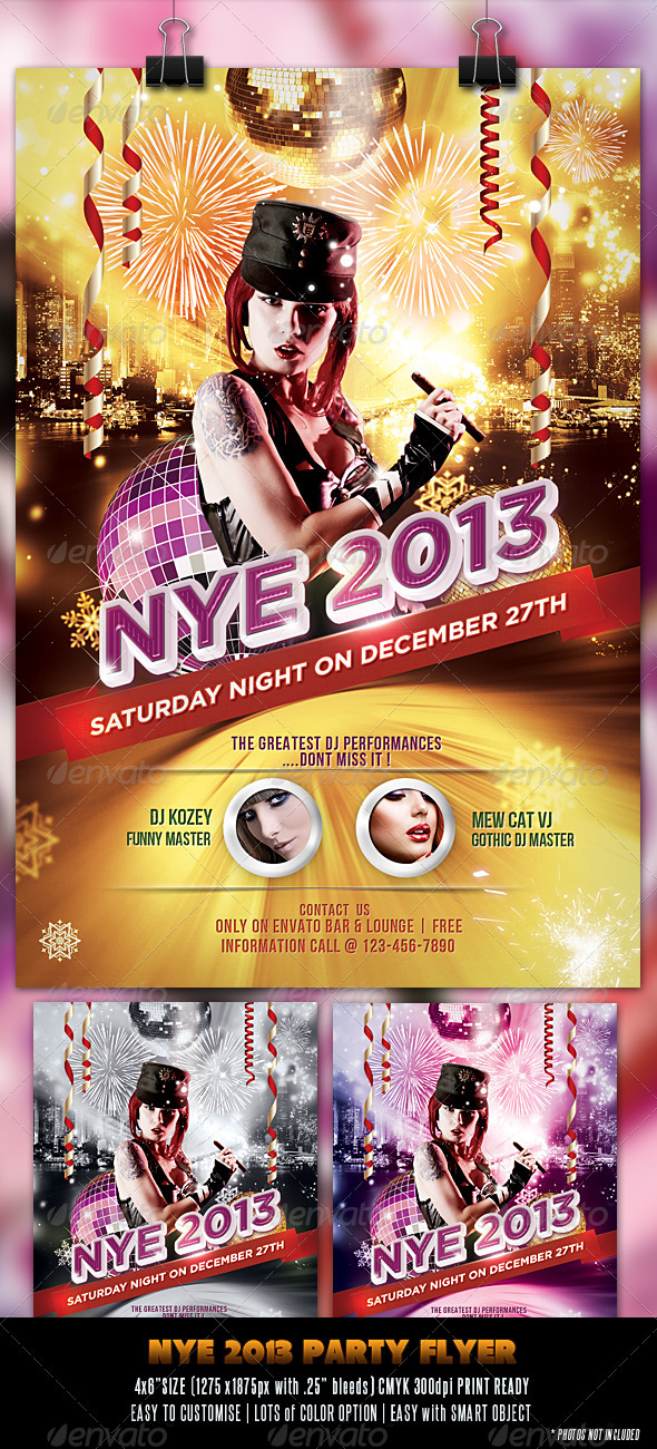 GraphicRiver New Year Eve 2013 Flyer 3462188